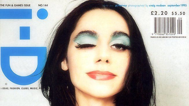 #tbt: it's 1995 and wonder woman pj harvey lands the cover of i-D