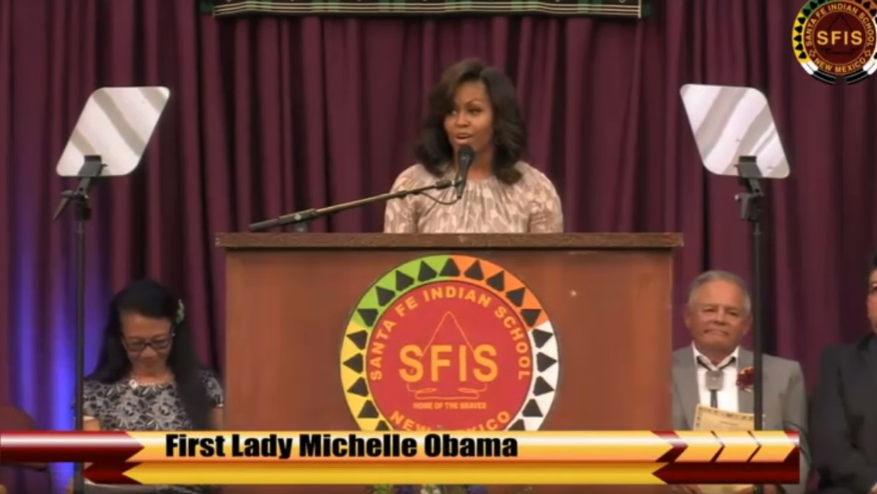 michelle obama's moving tribute to native american youth