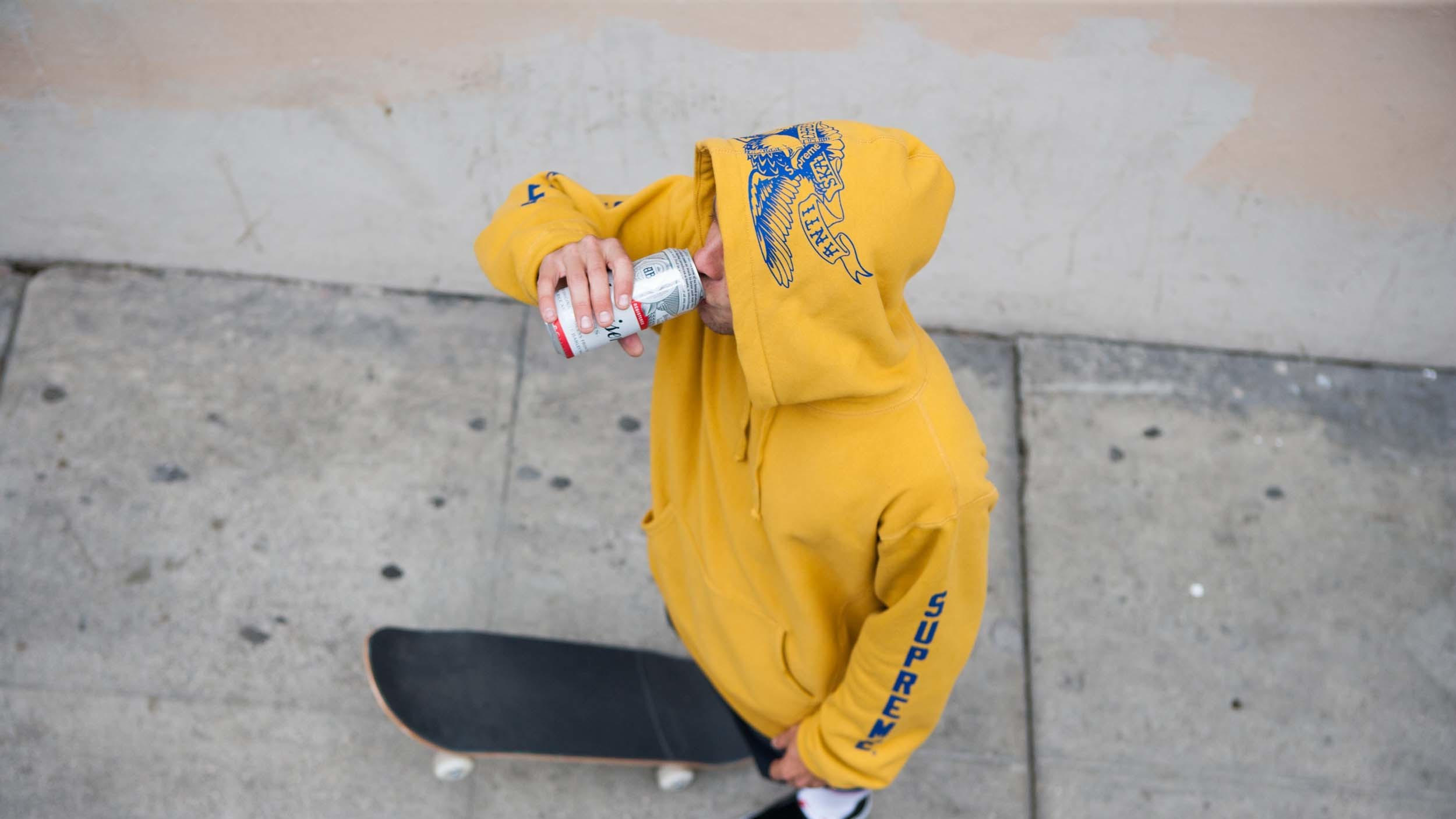 supreme team up with cult skate label anti hero