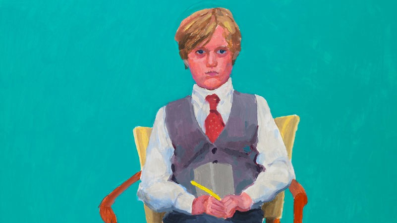 ​how tragedy turned david hockney back onto portraiture