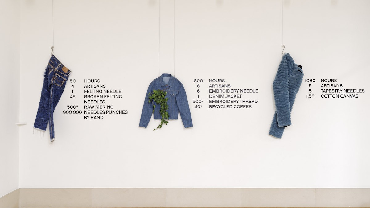 gallery show uncovers the hours of artisanal work in faustine steinmetz's slow denim