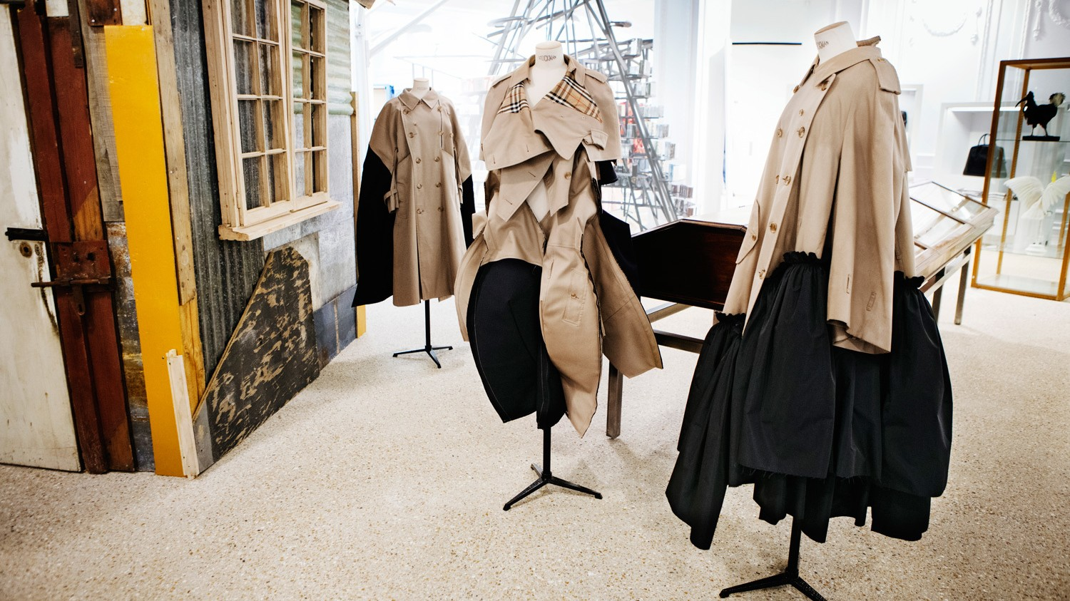 rei kawakubo has reworked the iconic burberry trench