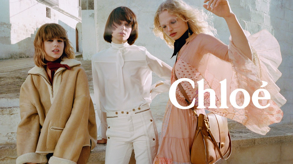 ​frederikke sofie takes a romantic trip in chloé's autumn/winter 16 campaign