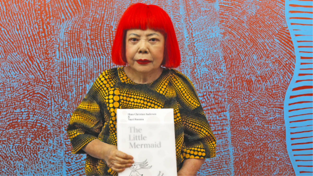 yayoi kusama is giving the little mermaid a makeover