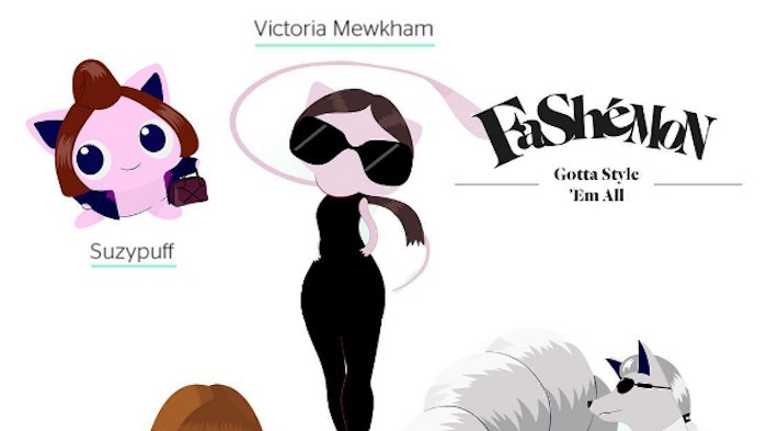 victoria beckham shares fashion themed pokemon figures