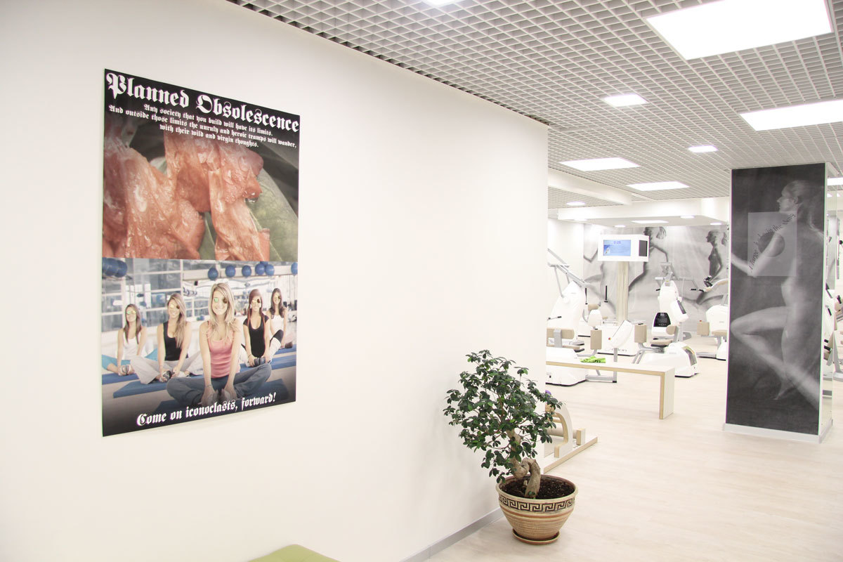 Exercising art in a moscow gym i d