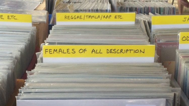 record store creates sexist new genre 'females of all description'