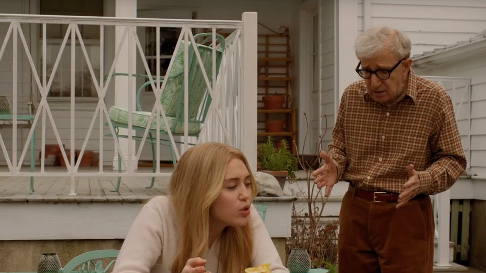 watch miley cyrus in the new trailer for woody allen's 'crisis in six scenes'