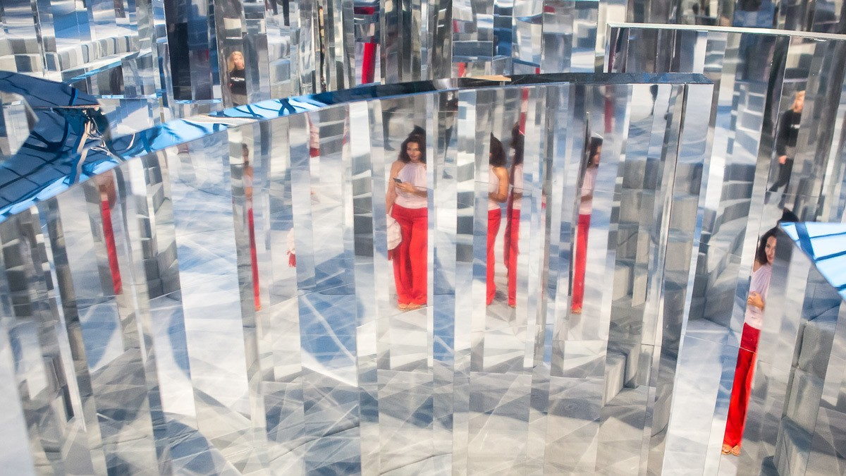 fashion, art and fragrance collide as the chanel x i-D mirror maze opens in peckham