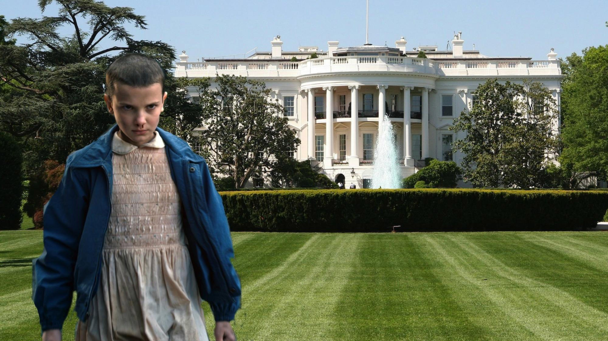 obama taps the 'stranger things' kids for the south by south lawn fest