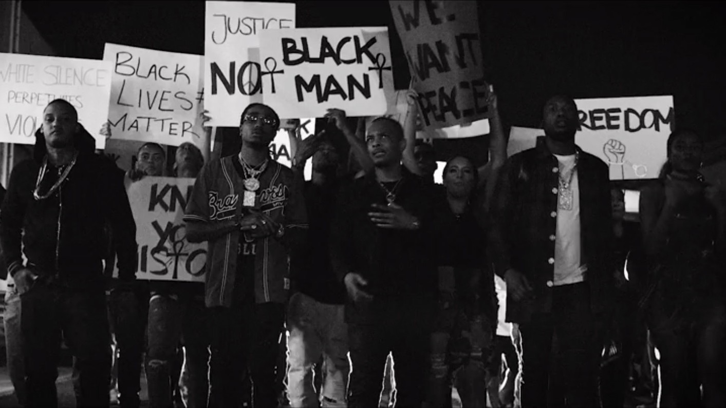 t.i.'s new video protests the killings of black men by police in america
