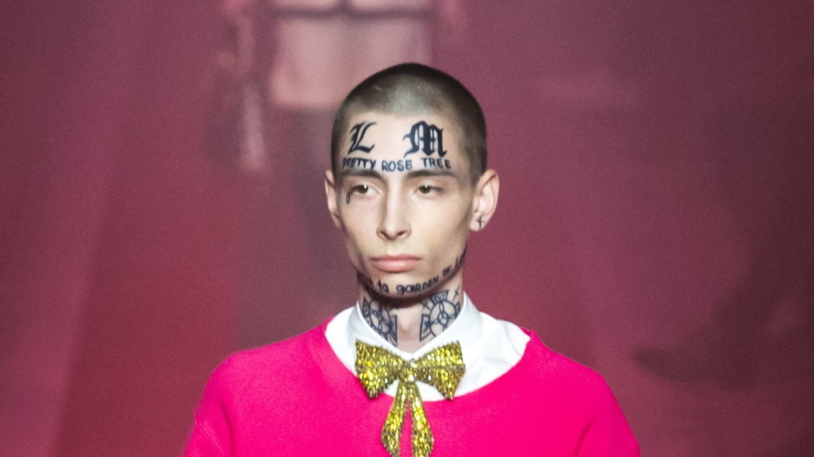 face tattoos in fashion: a controversial history