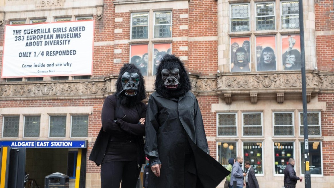 feminist art group guerrilla girls are taking on european museums' diversity record