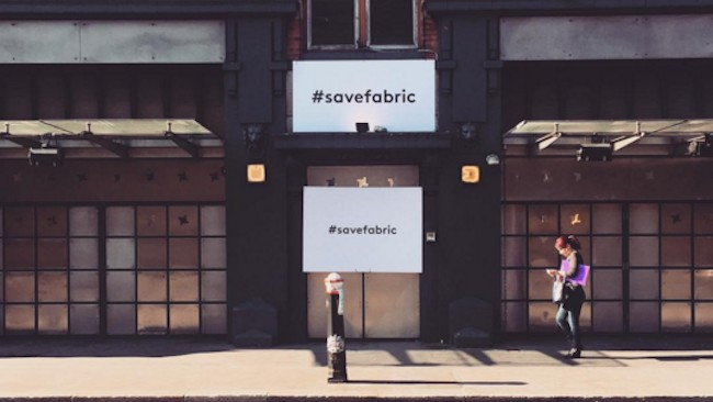 see photos from fabric's history at #saveourculture art show