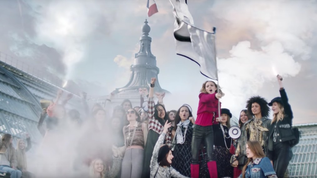 lily-rose depp's chanel campaign film is finally here