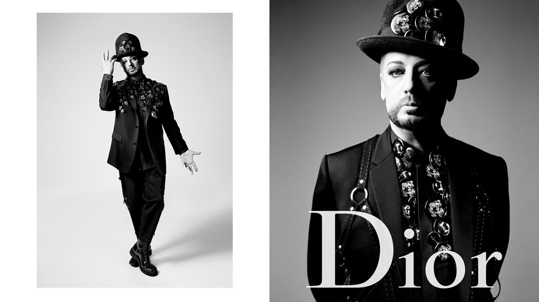 boy george is dior homme's latest poster boy