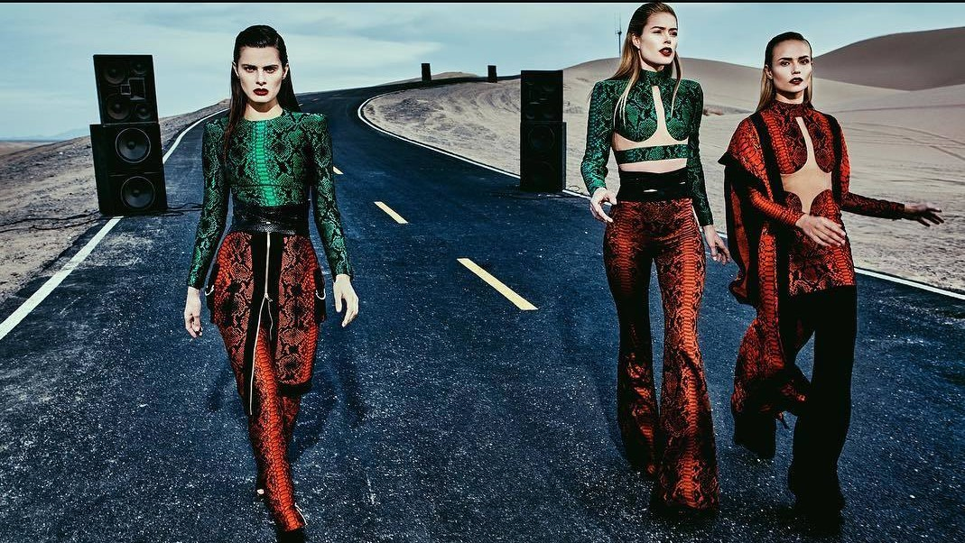 olivier rousteing's meditation on music continues with balmain's spring/summer 17 campaign