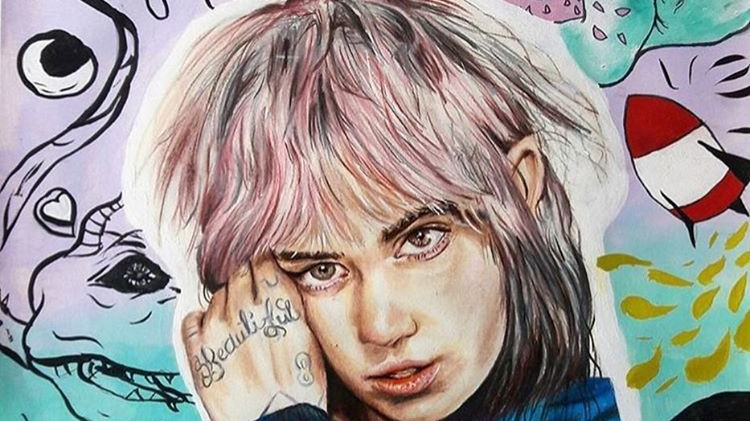 grimes has launched a new instagram account for visual art
