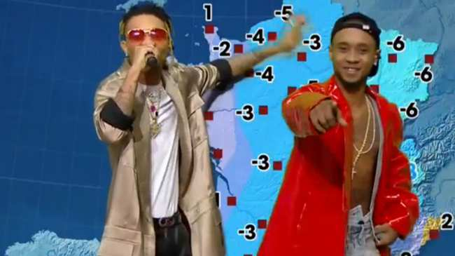 watch rae sremmurd moonlight as weather reporters on french