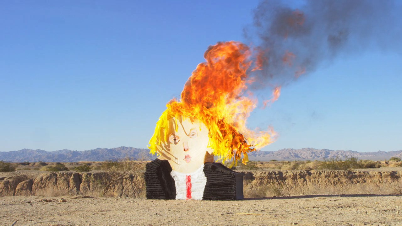 exclusive: artist cyril duval's explosive inauguration day video