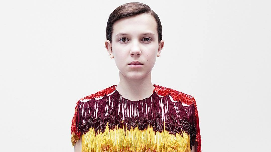 raf simons' first outing for calvin klein is about women, equality and millie bobby brown