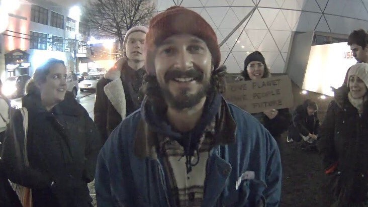 shia labeouf arrested after attacking neo-nazi