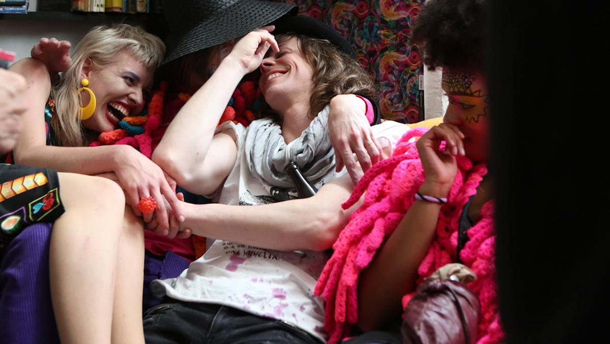 this decadent film looks at berlin nightlife, with a soundtrack featuring blood orange and peaches