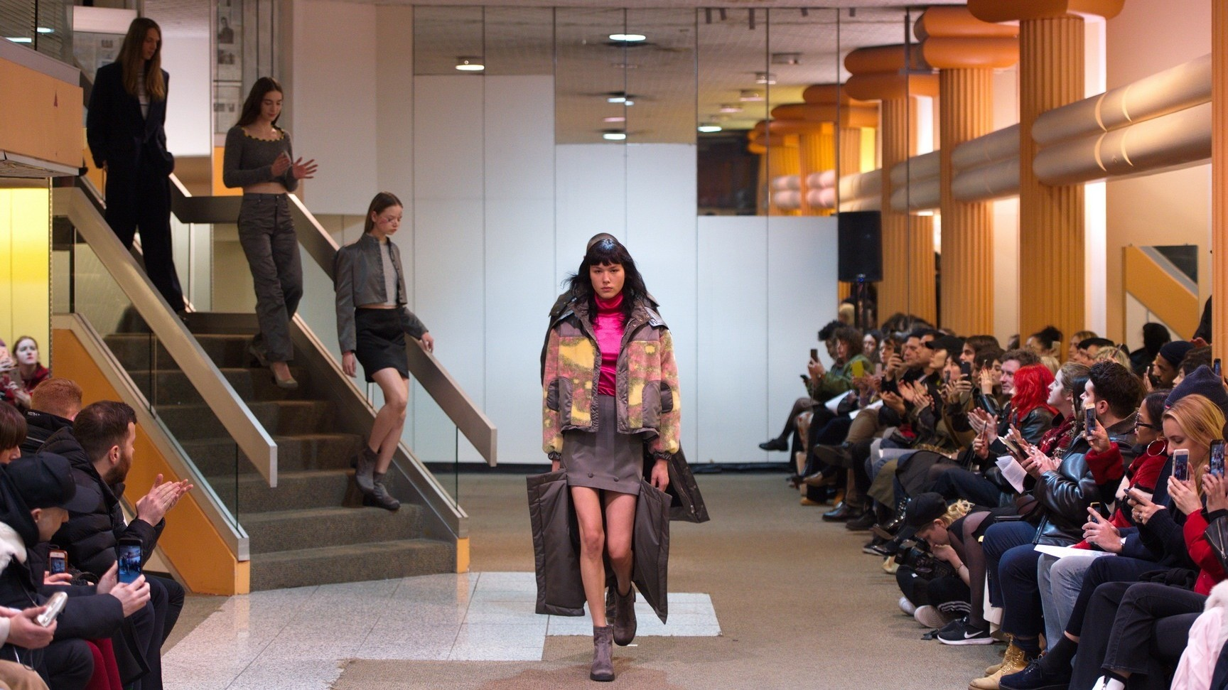 eckhaus latta took over a deserted midtown department store for autumn/winter 17
