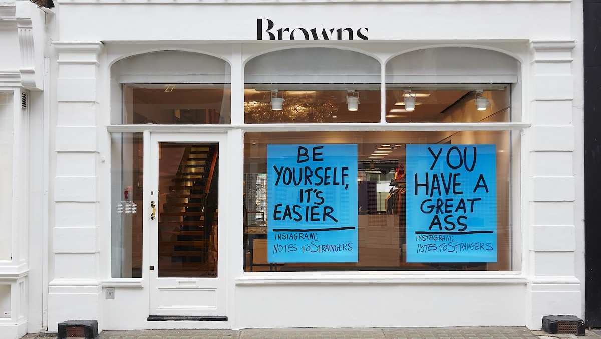 browns team up with artist andy leek for a campaign about messages of kindness