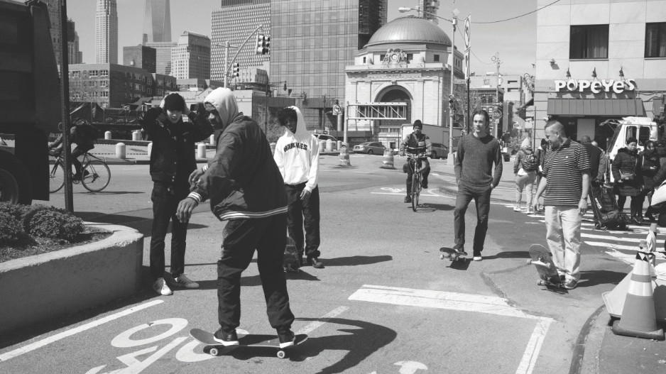 exclusive: watch ari marcopoulos capture mark gonzales and tyshawn jones shredding nyc