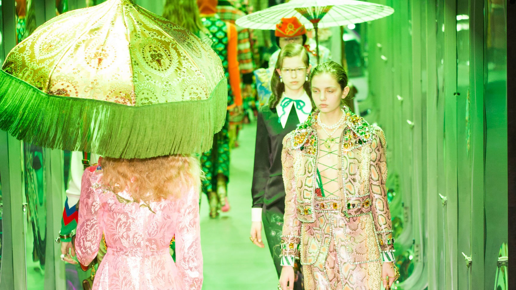 gucci open milan fashion week with a display of modern fashion alchemy