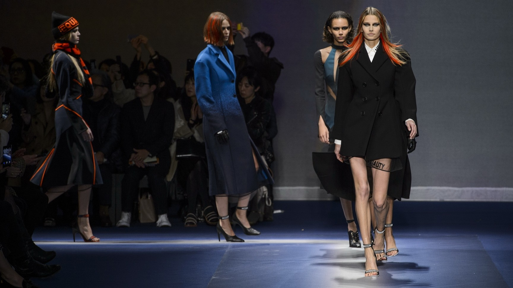 suffragette city: versace, emporio armani and diesel unite in milan