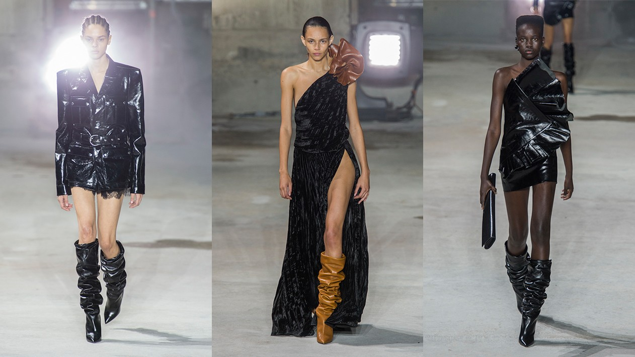 twice as nice: saint laurent and olivier theyskens kick off paris fashion week