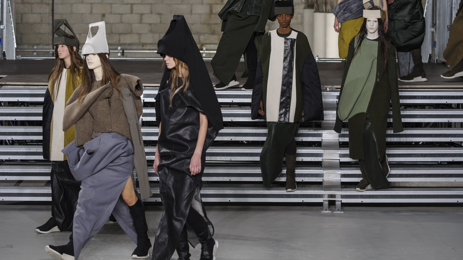 ceremony of our times: rick owens, chloé and balmain at paris fashion week