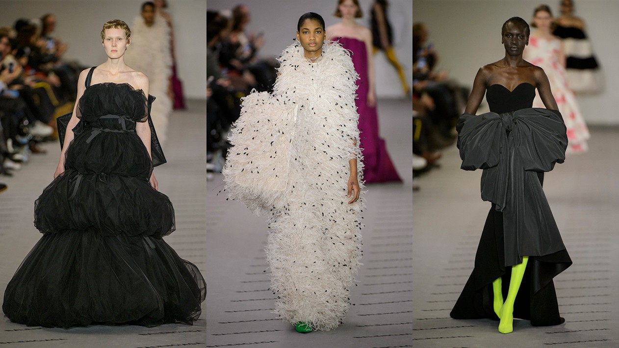 new way haute: balenciaga, valentino and céline at paris fashion week