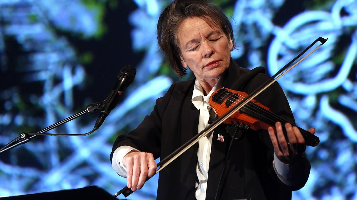 language, politics and performance with laurie anderson