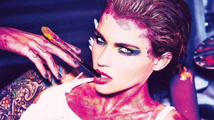 ruby rose's basquiat makeup campaign is stirring up controversy