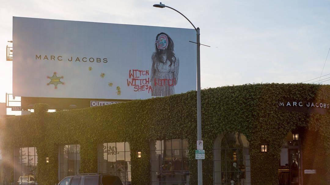 frances bean cobain tagged her own marc jacobs billboard