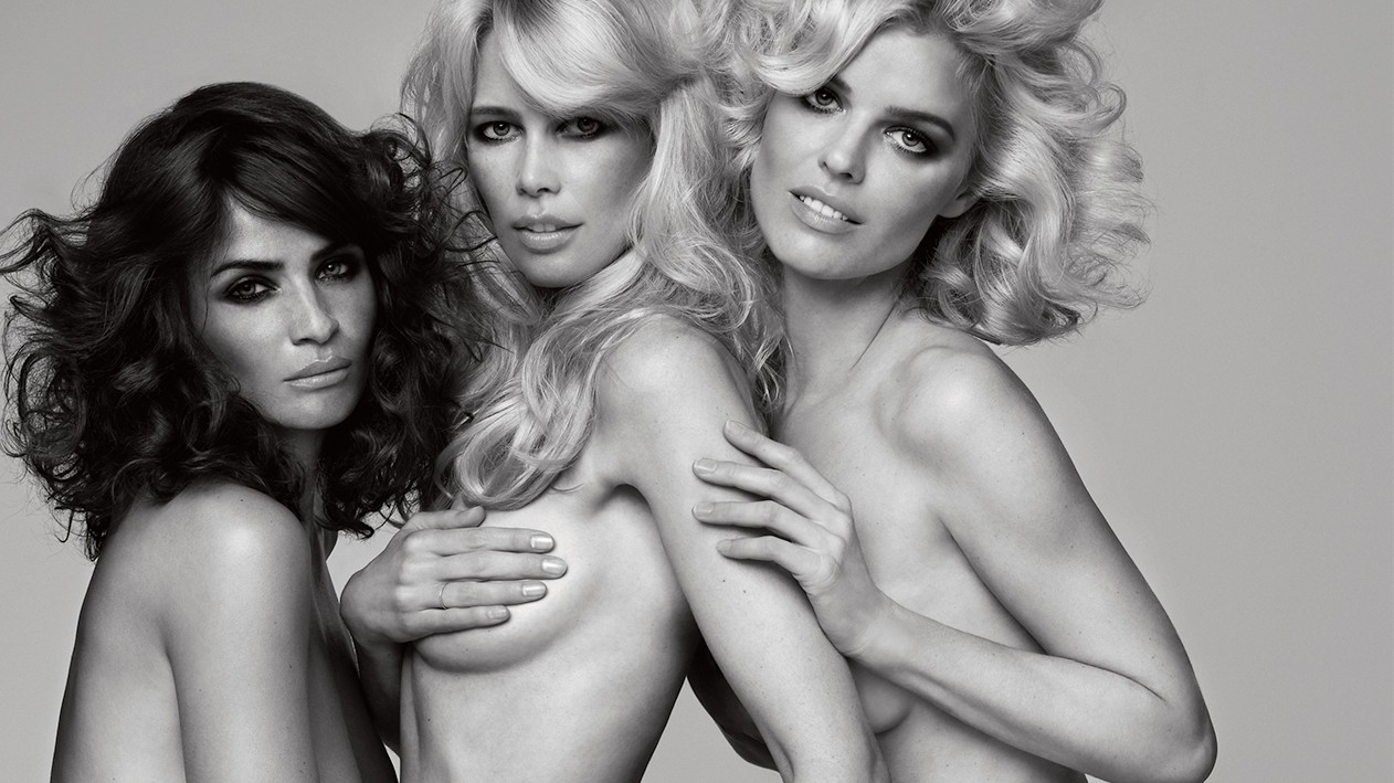 #tbt: when i-D met claudia schiffer, eva herzigová, and helena christensen in 2009