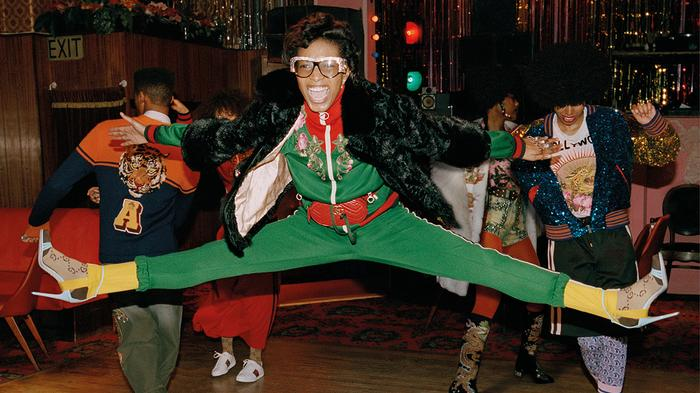 gucci digs the soul scene in funky new pre-fall campaign