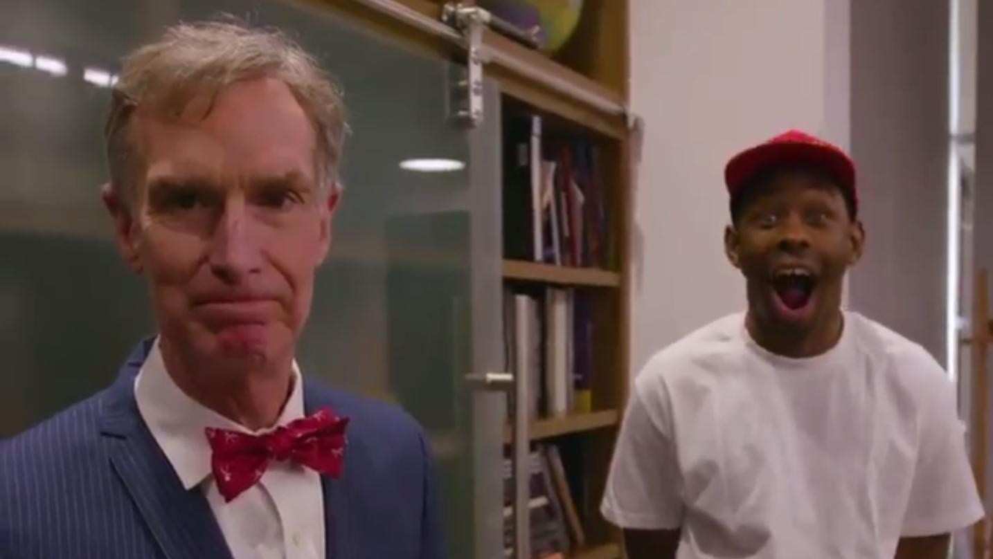 tyler, the creator is teaming up with bill nye the science guy