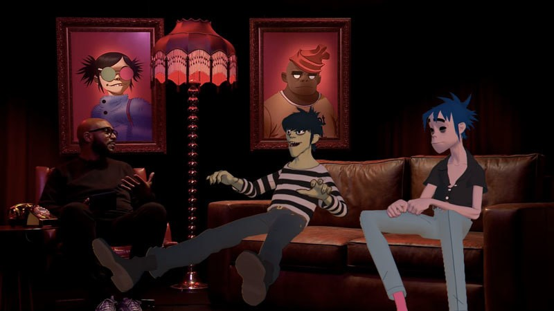 watch gorillaz's first on-camera interview