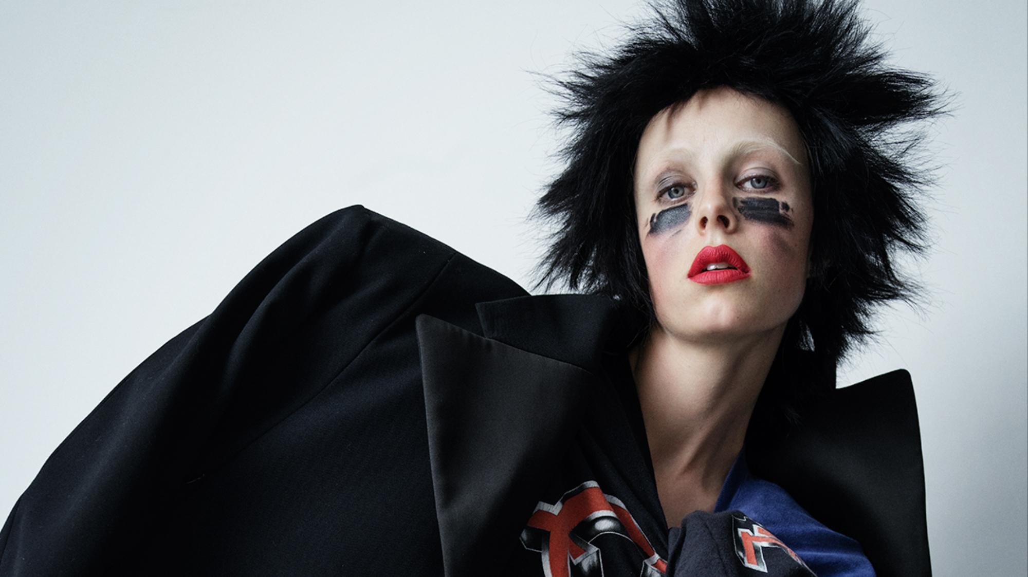 edie campbell transforms into a punk princess