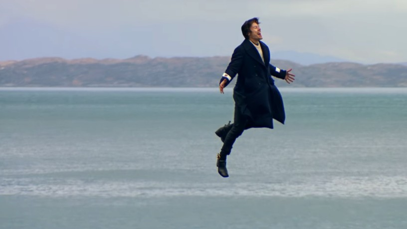 harry styles walks on water in stunning new music video