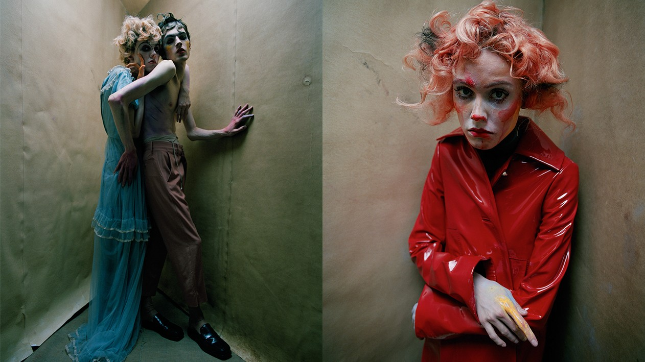 an egon schiele-inspired shoot by tim walker
