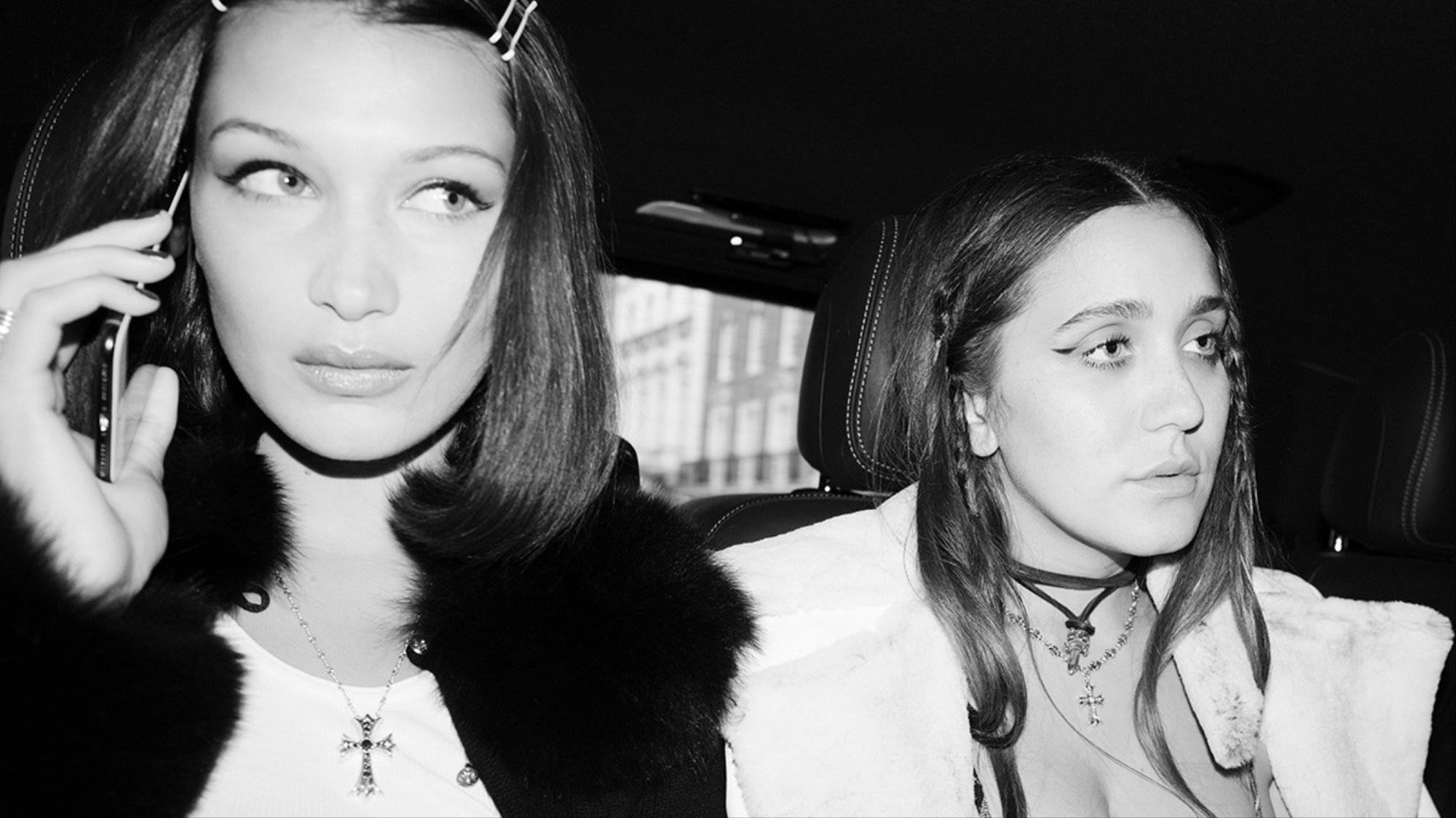 bella hadid's chrome hearts capsule collection keeps it in the family