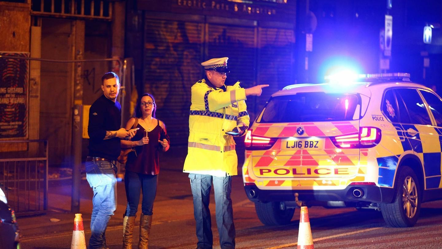 several explosions have been reported at a manchester ariana grande concert