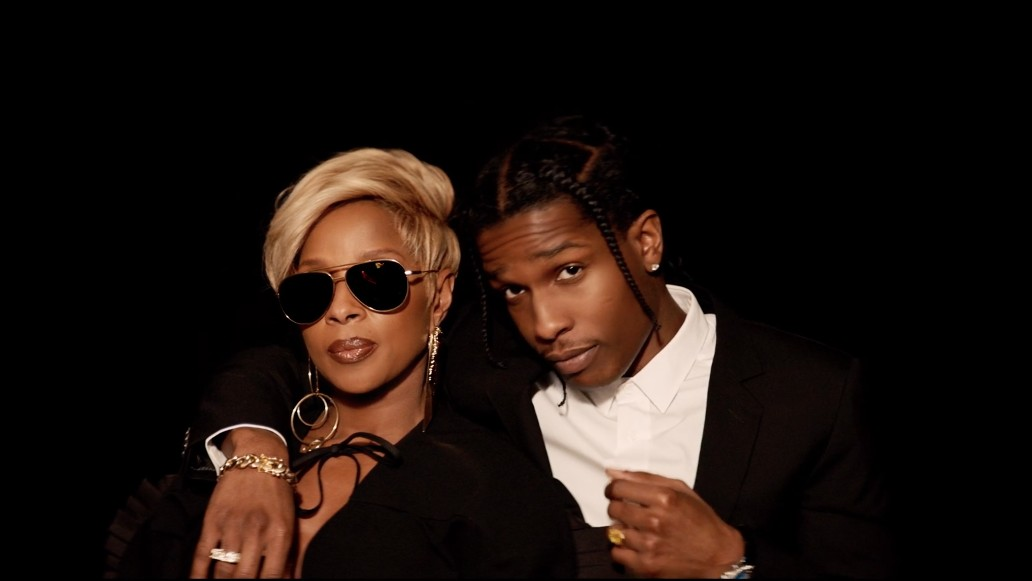 mary j. blige recruits a$ap rocky for glitzy 'love yourself' video