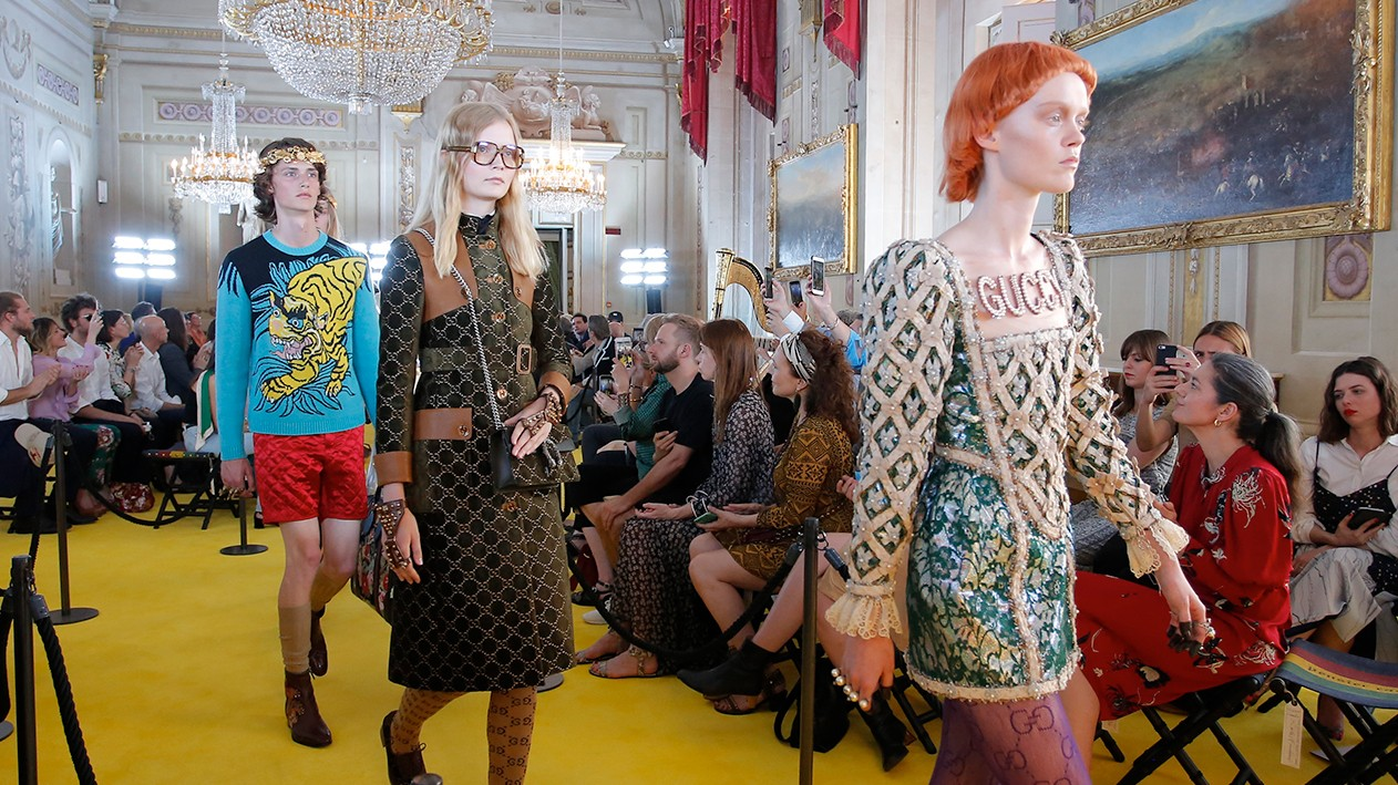 rock 'n' renaissance: gucci cruise 18 hits florence
