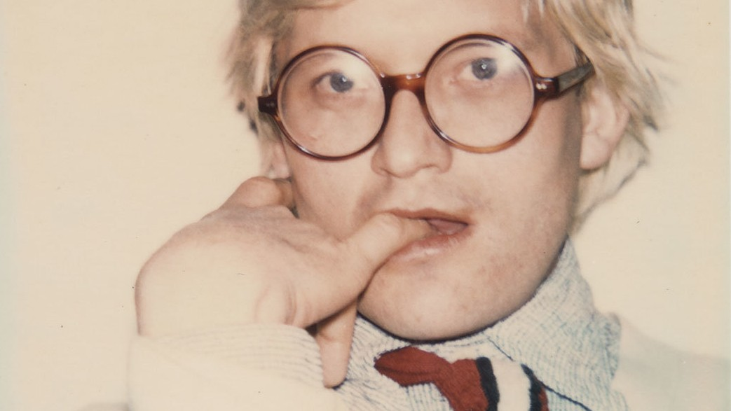 le polaroid mai viste di david hockney, scattate da andy warhol